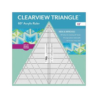 CTP Ruler Clearview Triangle 60 Degree 12""