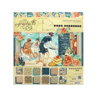 Graphic 45 Cafe Parisian Paper Pad 12x12