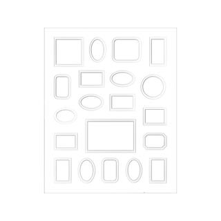 ADP White 16-inch by 20-inch 20-opening Double-layer Framing Mat
