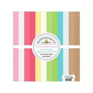 Doodlebug Cream & Sugar Paper Pack Petite