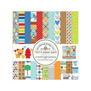 Doodlebug Puppy Love Paper Pack 12x12