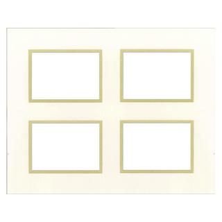 Accent Design Specialty White/Gold-tone Double-layer Framing Mats