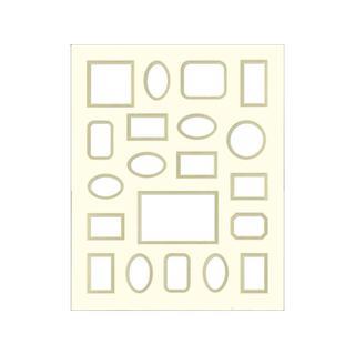 ADF Mat Dbl 16x20 CrmCore AntWhite/Gold 20-Op