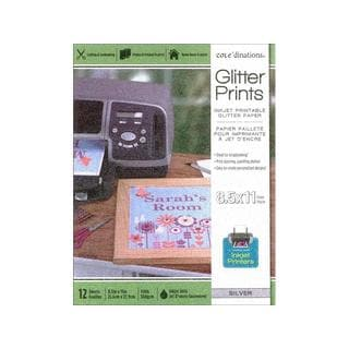 Coredinations Glitter Paper Pad 8.5x11 Silver
