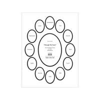 ADF Through the Years White/Black 12-inch x 16-inch Double Mat