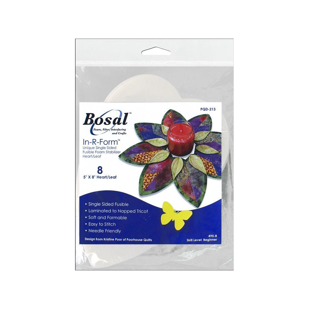 Sterling Bosal In-R-Form Heart/Leaf Shaped Fold-n-stitch ...