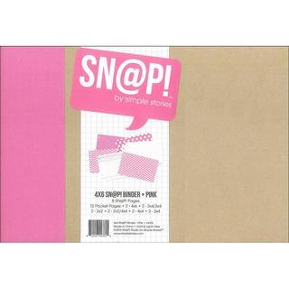 Simple Stories Snap Binder 4x6 Pink