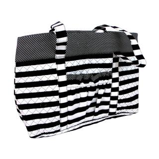 Darice Fashion Black/White Fabric Tote Bag