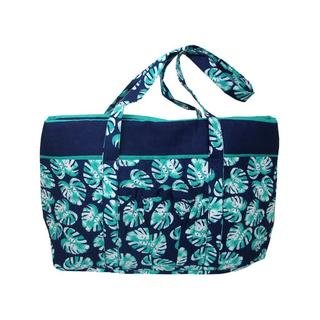 Darice Fashion Bags Fabric Tote Palm Blue