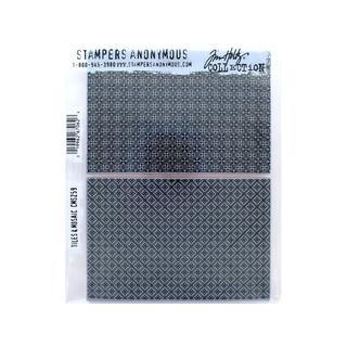 Stampers Anonymous Tim Holtz Tiles and Mosaic Cling Mounted Stamp