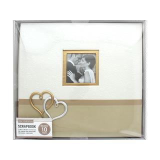 K&Co Scrapbook 12x12 Wedding Hearts Boxed