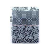 Stampers Anonymous THoltz Lattice and Flourish Cling Mounted Stamps