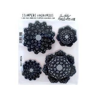 Stampers Anonymous Tim Holtz Doily 4-piece Cling Mounted Stamps