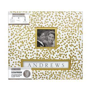 K&Co Frame-A-Name Gold Foil Scrapbook