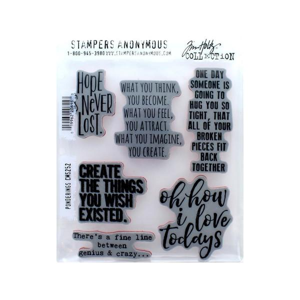Stampers Anonymous Tim Holtz Ponderings Cling Stamps