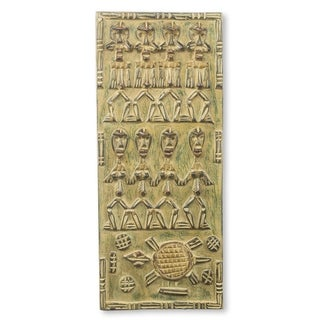 Handmade African Relief Panel, 'Balase Dogon Board' (Ghana) - Brown - N/A