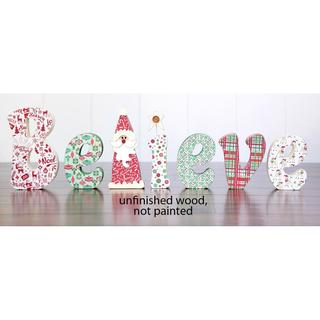 Foundations Decor Wood Believe Word