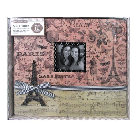 K&Co Scrapbook 12x12 Parisian Collage Boxed