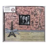 K&Co Scrapbook 12x12 Parisian Collage Boxed