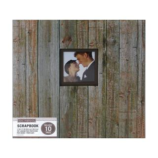K&Co Weathered Wood 12-inch x 12-inch Window Scrapbook