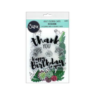 Sizzix JLong Coloring Card And Stamps In Bloom
