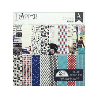 Authentique Dapper 12-inch x 12-inch Paper Pad
