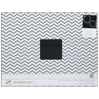 American Crafts Grey and White Chevron-print Album