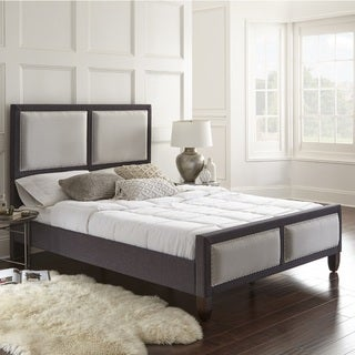 Sleep Sync Madison QN Platform Bed linen fabric upholstered Bed Frame set with two color choices