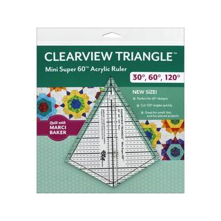 C&T Publishing Clearview Triangle Mini Super 60 Ruler