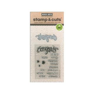 Hero Arts Stamp & Cut Die Congrats