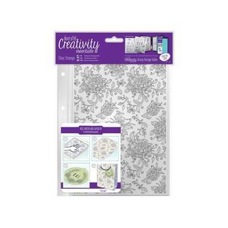 Docrafts Creativity Ess Clear Stamp Bkgrnd Floral