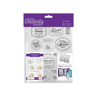 Docrafts Creativity Ess Clear Stamp Set Trad Sent