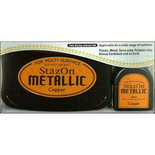 StazOn Solvent Ink Pad Large Metallic Copper