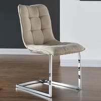 Galyn-Fabric/Chrome Side Chair ( set of 2)