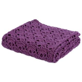 Berkshire Blanket Hand Made Crocheted Fan Throw