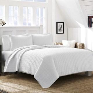 Nautica Maywood White Cotton Quilt Set