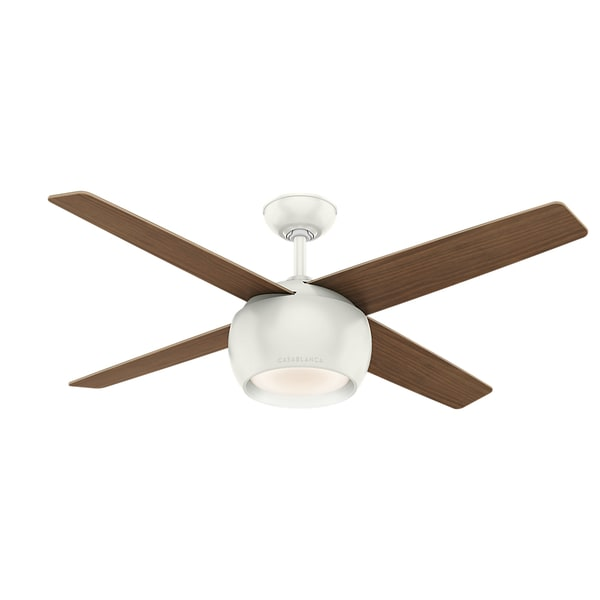 "Casablanca 54"" Valby Ceiling Fan with LED Light Kit and Wall Control - Fresh White"