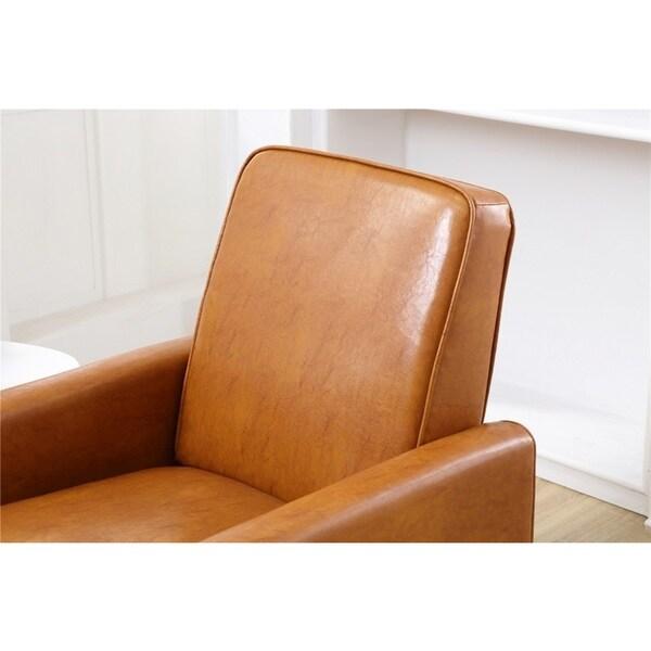 Shop Carson Carrington Knaben Mocha Faux Leather Recliner