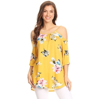 Women's Floral Pattern Tunic Top