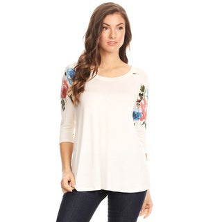 Women's Floral Pattern Sleeve Tunic