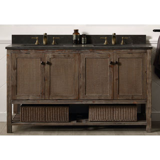Legion Furniture 60 Inch Solid Wood Sink Vanity With Marble Top