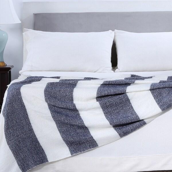 Berkshire Blanket Nautical Striped Woven Throw