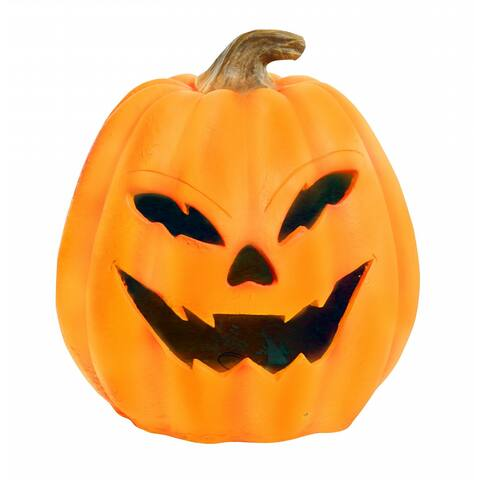 Alpine Motion Activated Pumkin with Yellow LEDs, 17 Inch Tall