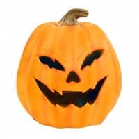 "17"" Pumpkin with Yellow LEDs & Motion Sensor"