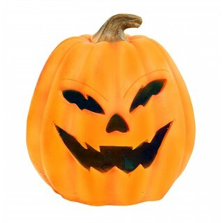 "17"" Pumpkin with Yellow LEDs & Motion Sensor"