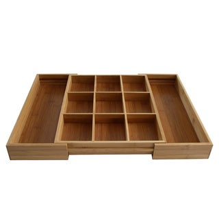 Bamboo Expandable Od's & End's Drawer Organizer