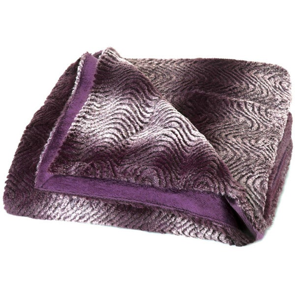 Koehler Home Decor Orchid Ombre Faux Fur Throw Blanket
