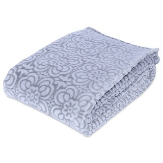 Berkshire Blanket Ornate Frosted Floral VelvetLoft Blanket
