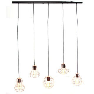 Benzara Copper-finished Metal Vintage-styled Hanging Lamp