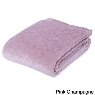Berkshire Blanket Plush Damask VelvetLoft Blanket